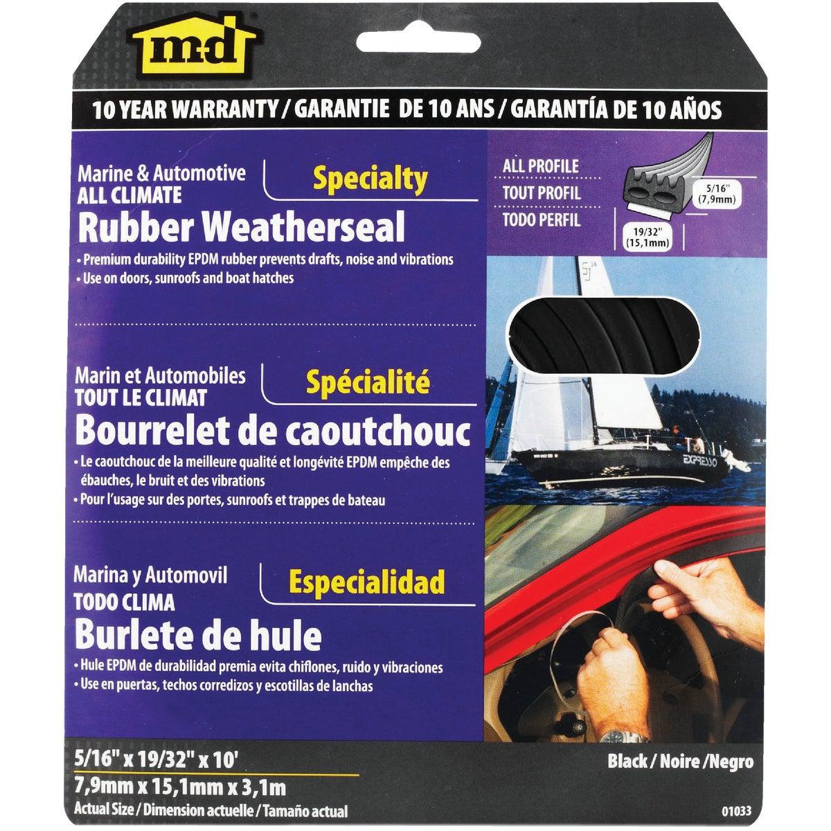 BLK AUTO&MN WEATHERSTRIP - 01033 by M D Building Prod