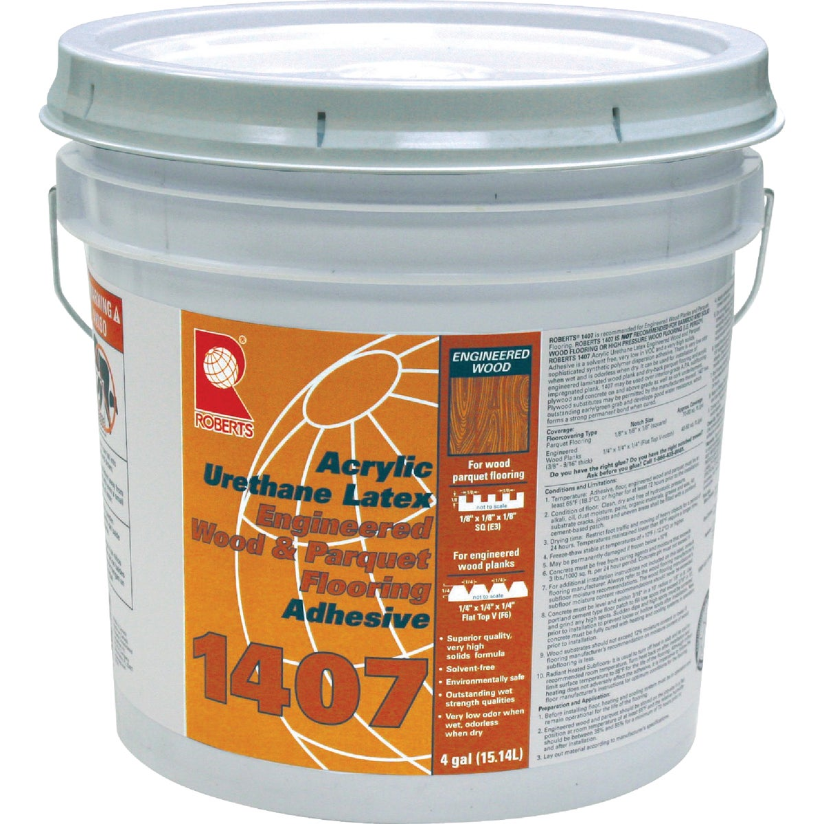 ACRYLIC LATEX ADHESIVE - 1407-4 by Qep Co Inc Roberts