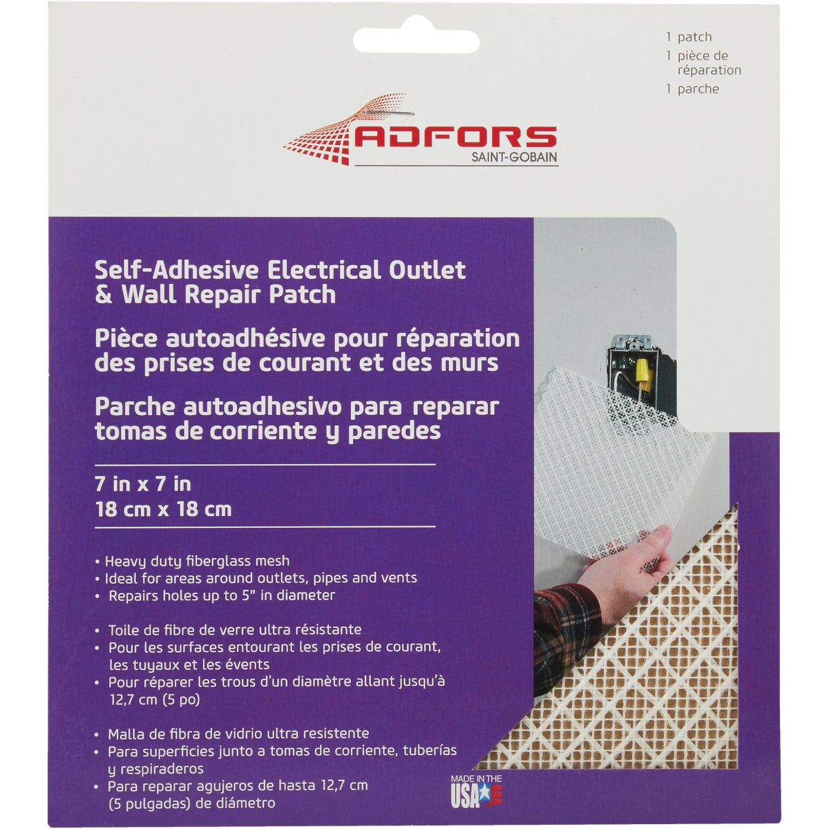 7X7ELEC OUTLT WALL PATCH - FDW6503-U by Saint Gobain