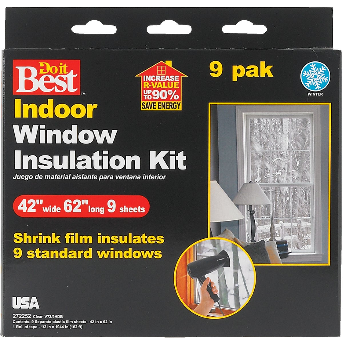 9PK SHRINK WINDOW KIT