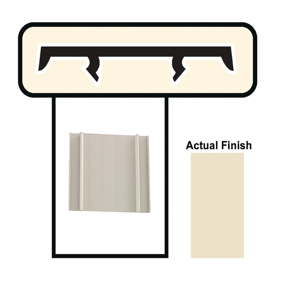 "3-1/2""X8' BEIGE CAP - BCAP38 by Screen Tight"