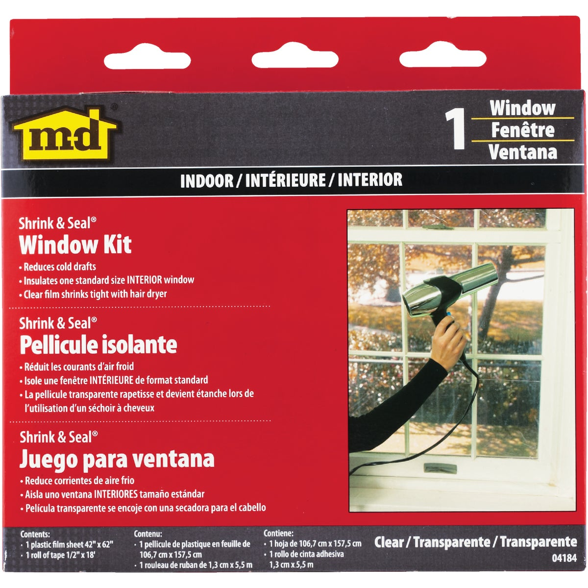 SHRINK&SEAL WINDOW KIT - 04184 by M D Building Prod