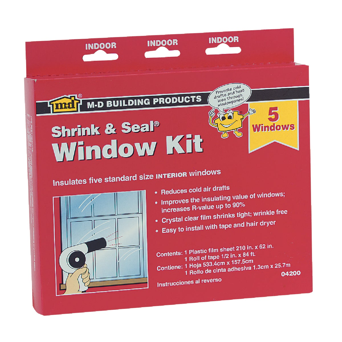 SHRINK&SEAL 5-WINDOW KIT - 04200 by M D Building Prod