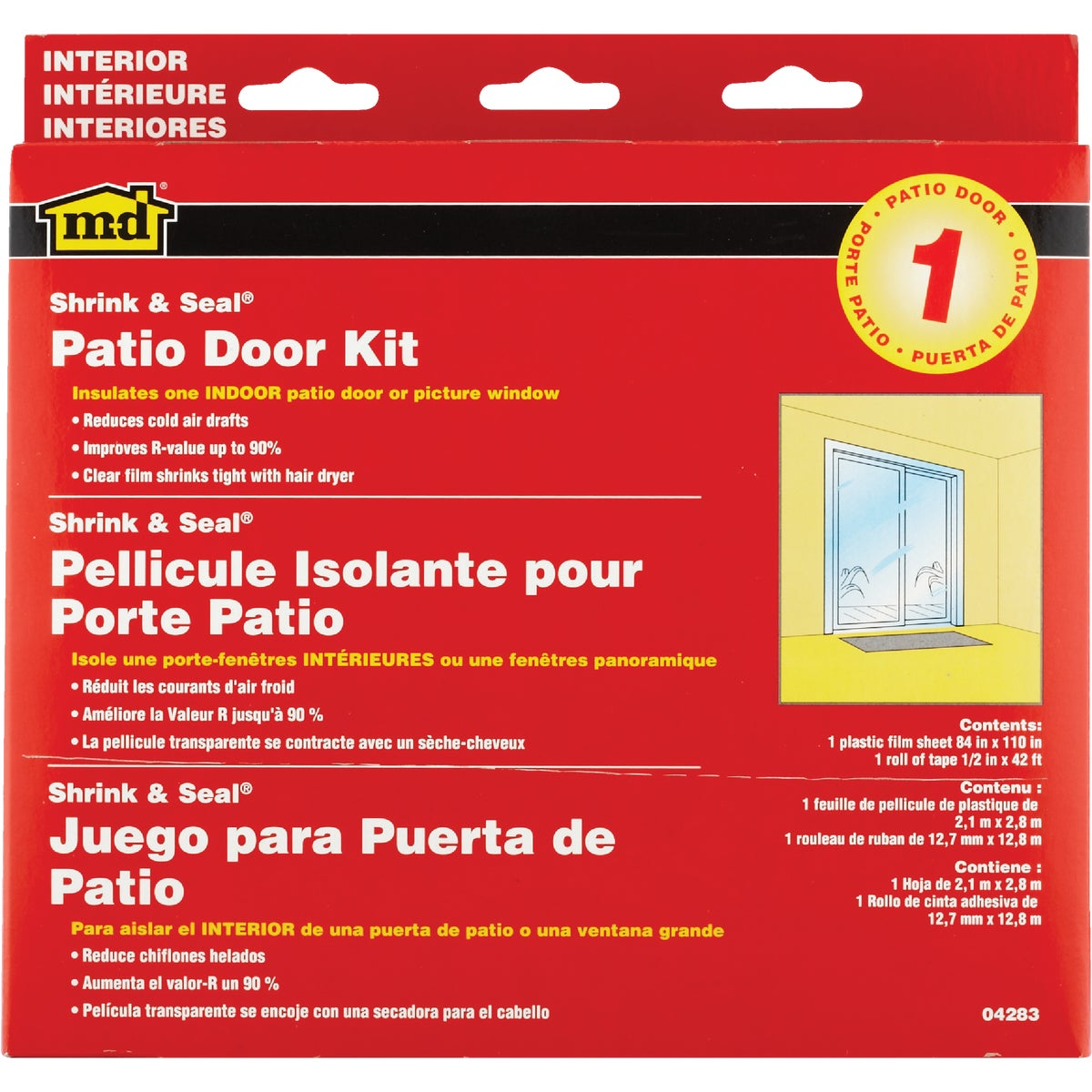 SHRINK&SEAL PATIO DR KIT - 04283 by M D Building Prod
