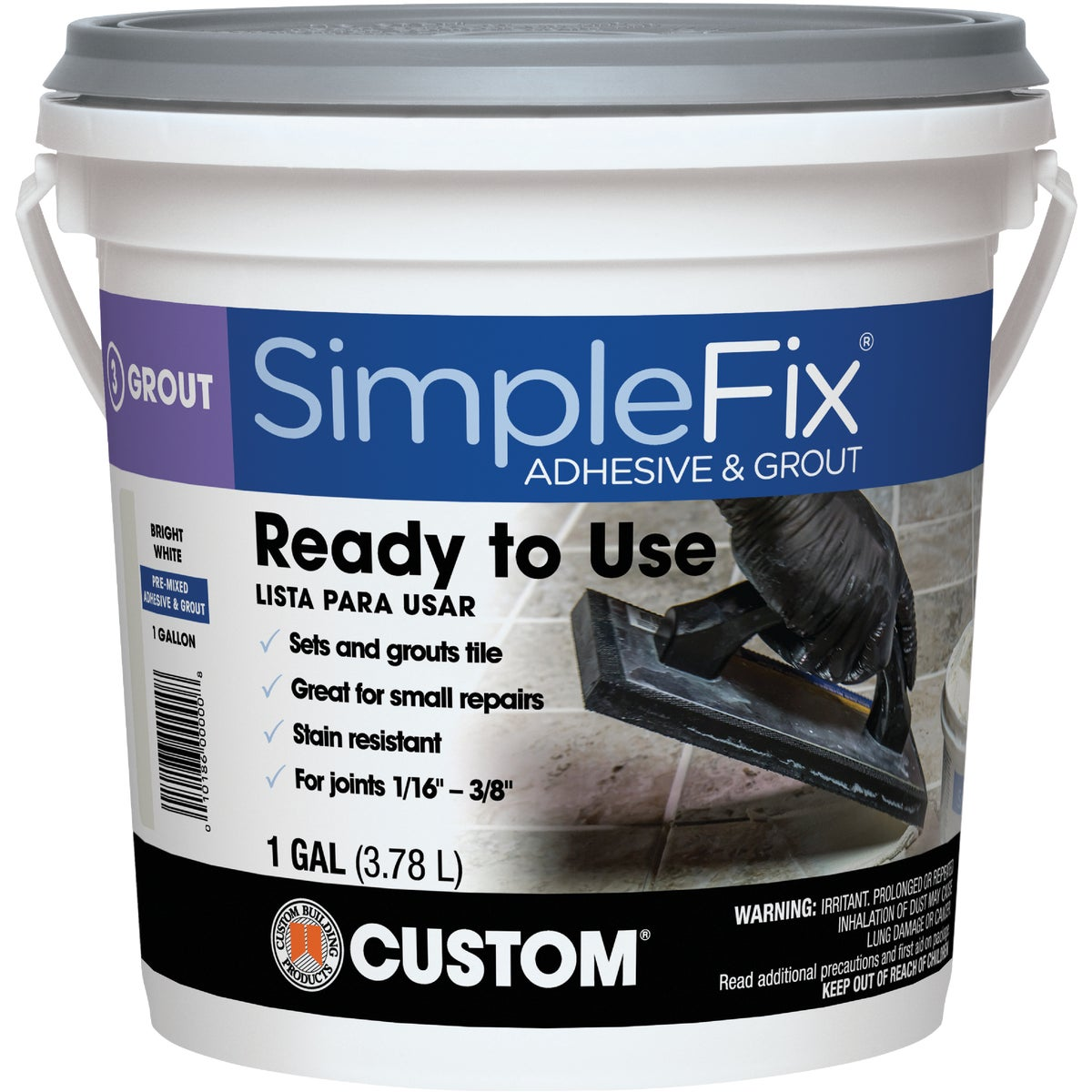 GL WHT PM ADHESIVE&GROUT - TAGW1-2 by Custom Building Prod
