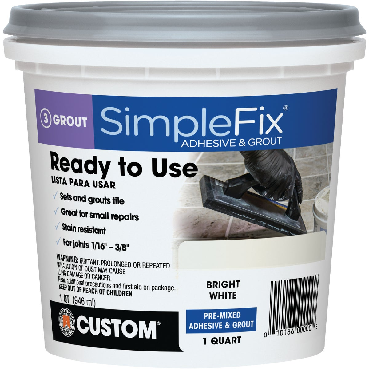 QT WHT PM ADHESIVE&GROUT - TAGWQT by Custom Building Prod