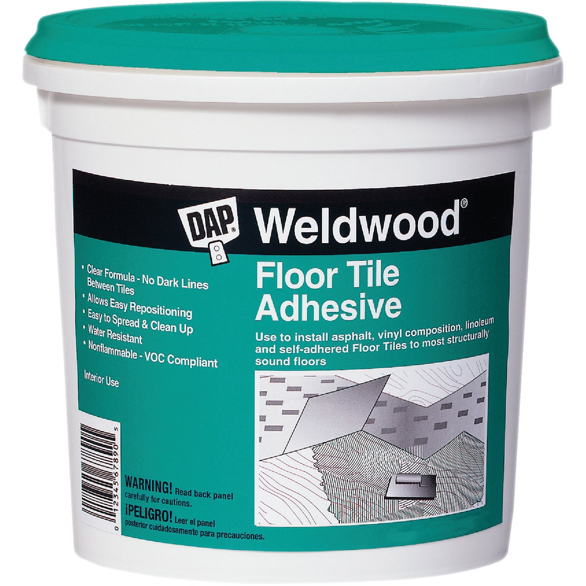 QT FLOOR TILE ADHESIVE - 00136 by Dap Inc