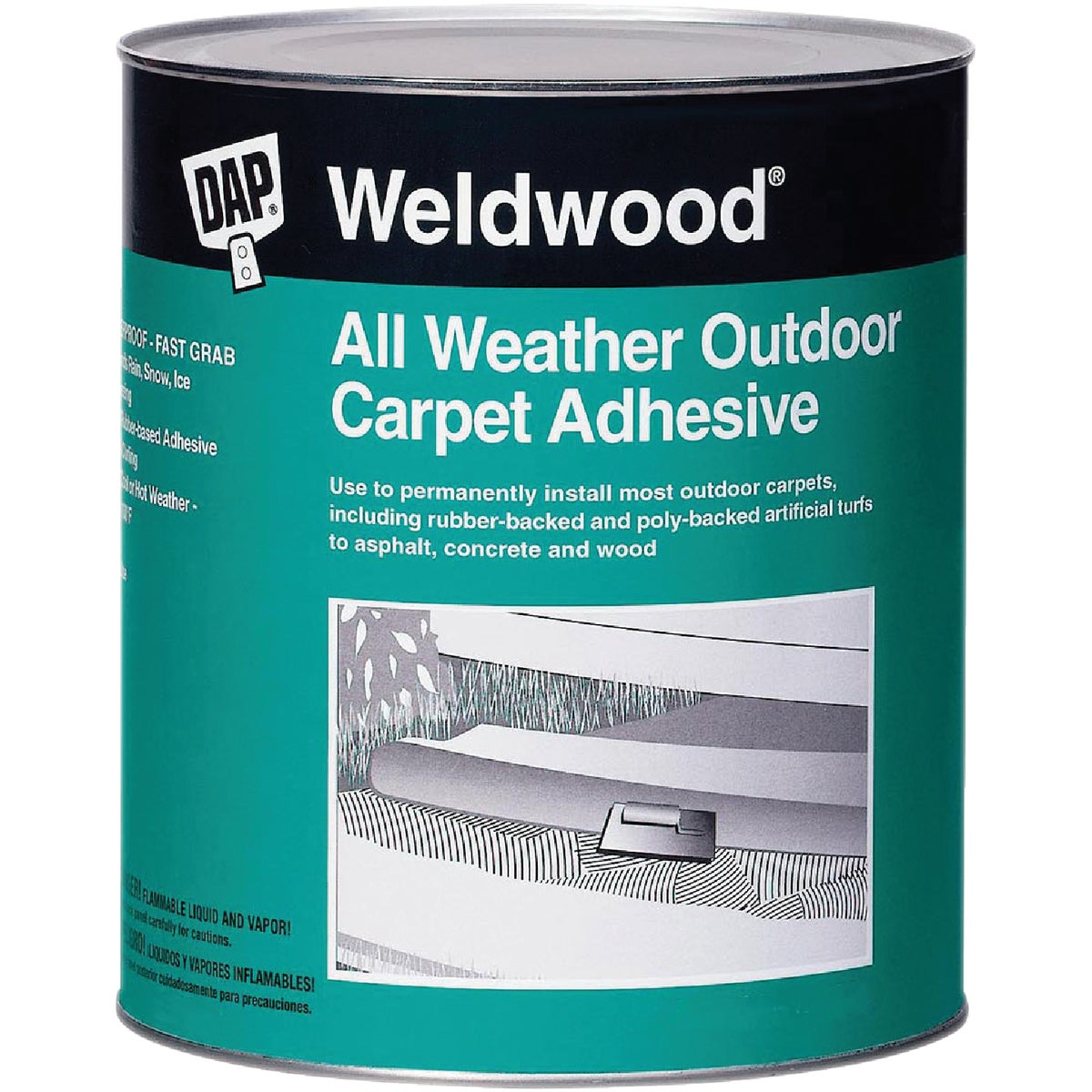 QT OUTDR CARPET ADHESIVE - 00442 by Dap Inc