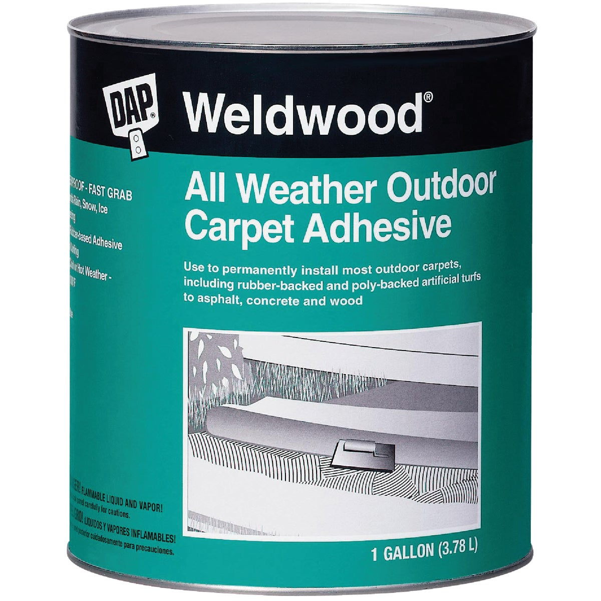 All Weather Outdoor Carpet Adhesive, Gallon