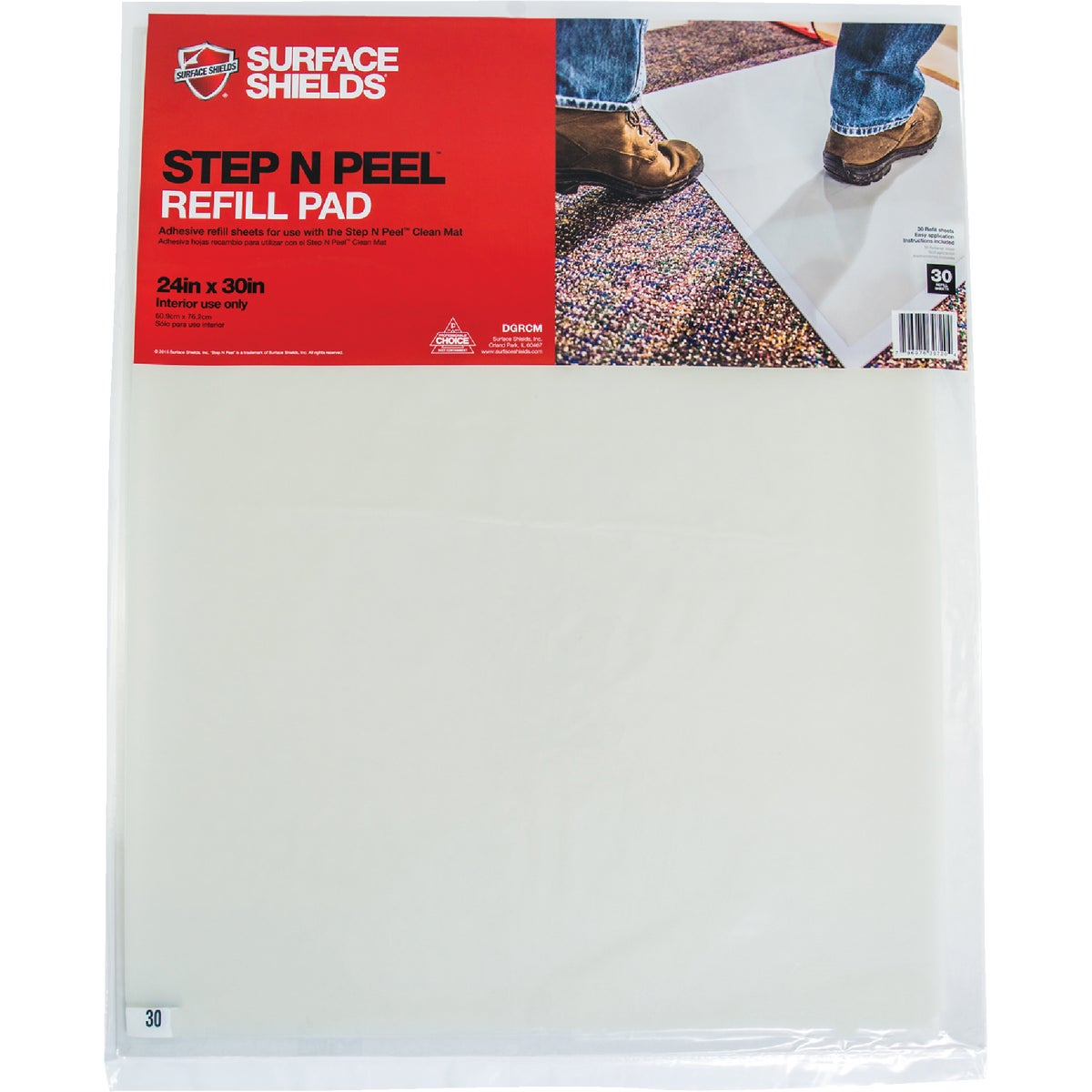 STEP N PEEL REFIL SHEETS - DGRCM by Surface Shields Inc
