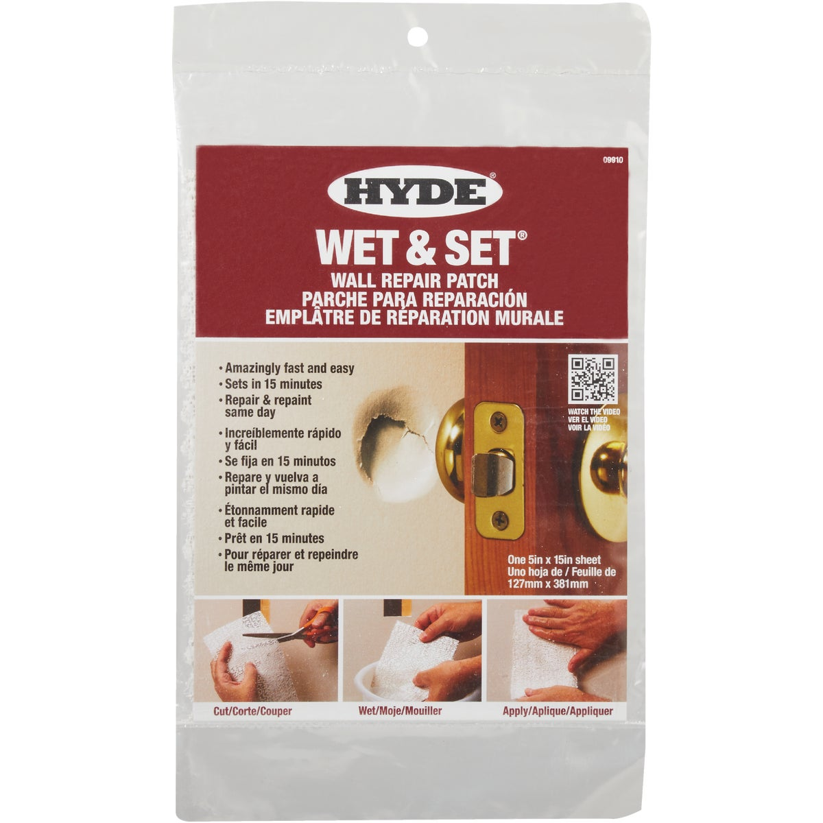 5X15 WET & SET PATCH - 09910 by Hyde Mfg Co
