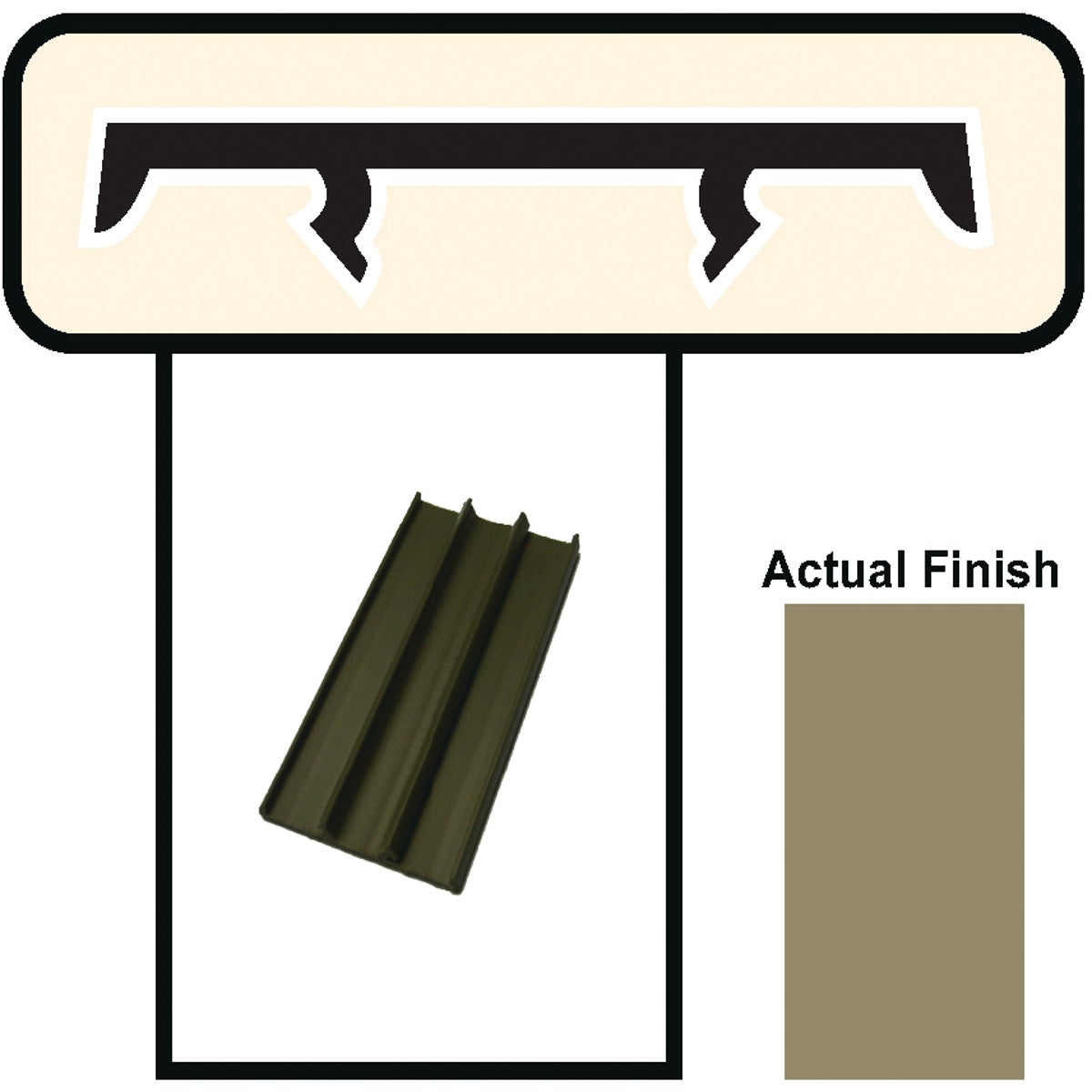 "1-1/2""X8' BROWN CAP - BRCAP18 by Screen Tight"