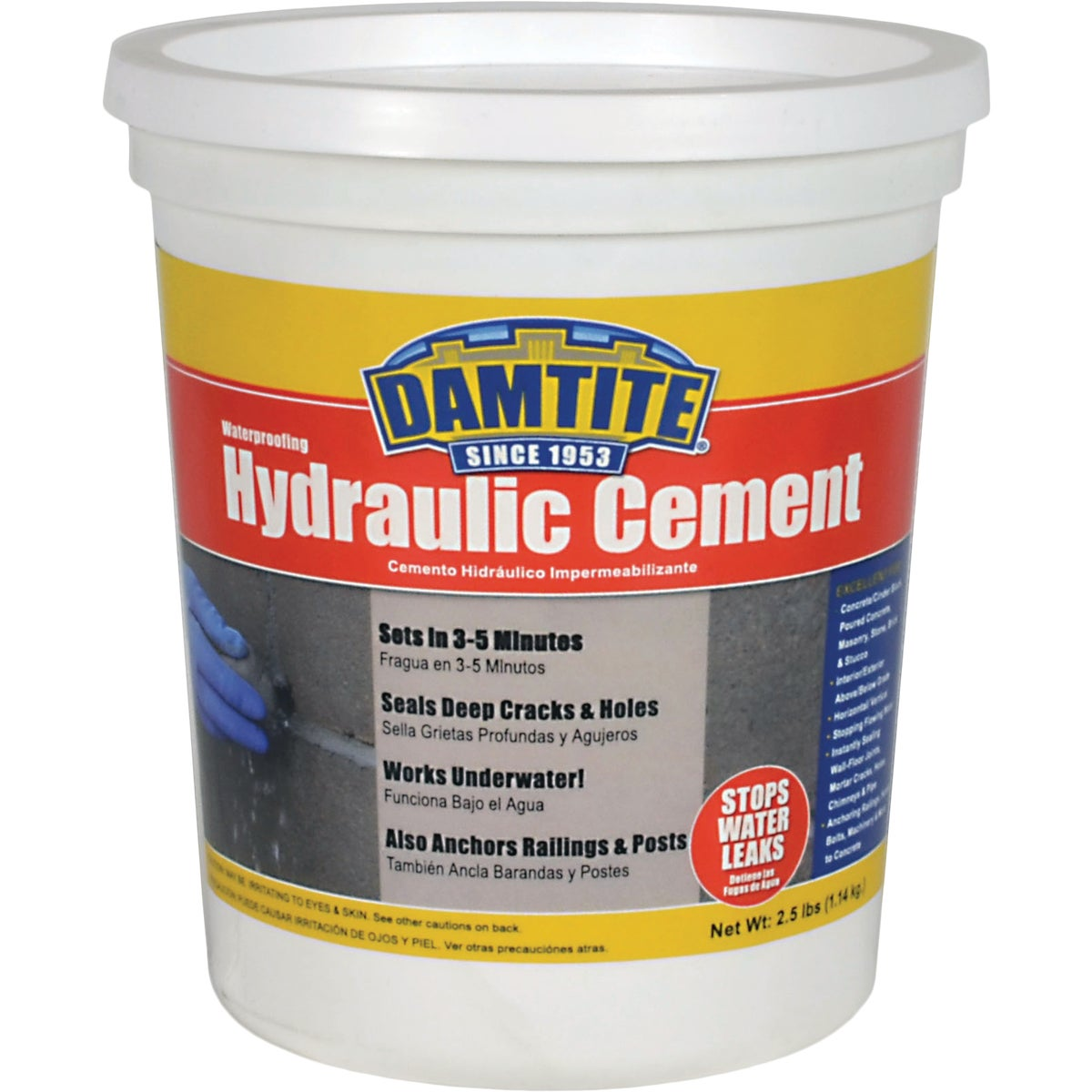 2-1/2LB HYDRAULIC CEMENT - 07031 by Damtite Waterproofng