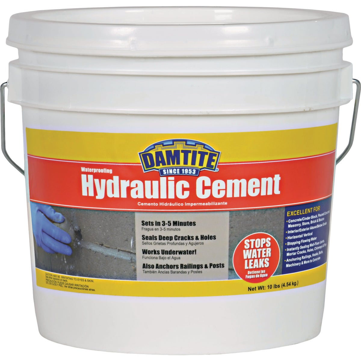 10LB HYDRAULIC CEMENT - 07121 by Damtite Waterproofng