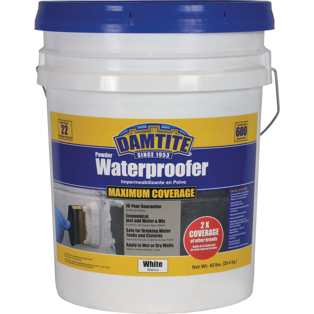 45LB CONCRT WATERPROOFER - 01451 by Damtite Waterproofng