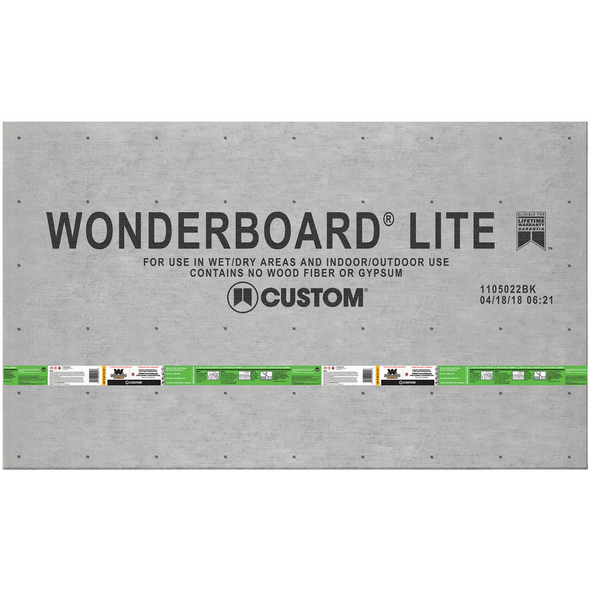 3X5X1/4 WONDERBOARD - FLB60L by Custom Building Prod