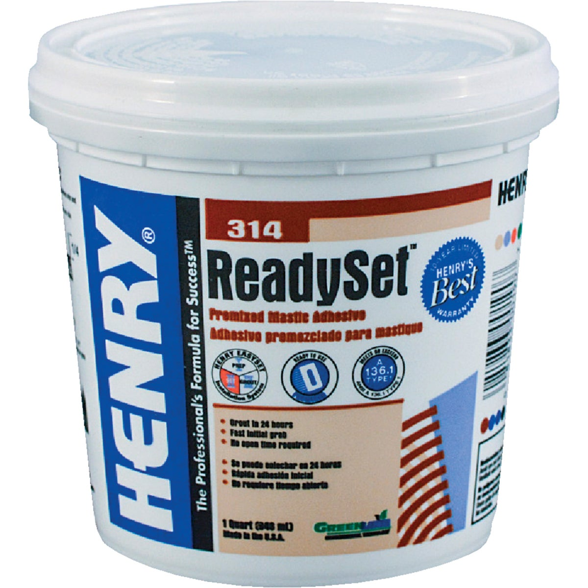 QT H314 CERAMIC ADHESIVE - 12255 by Henry W W Company
