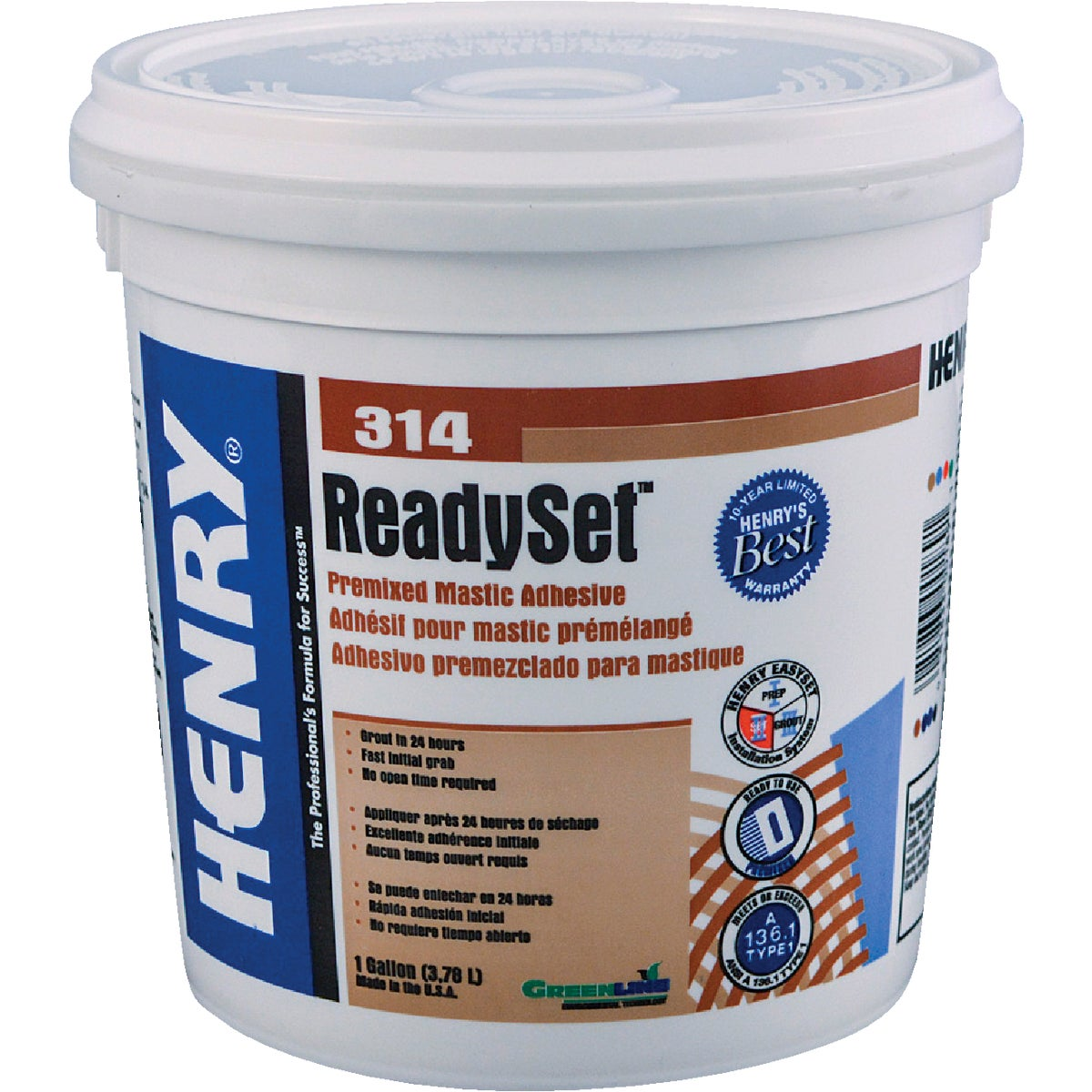 GL H314 CERAMIC ADHESIVE - 12256 by Henry W W Company