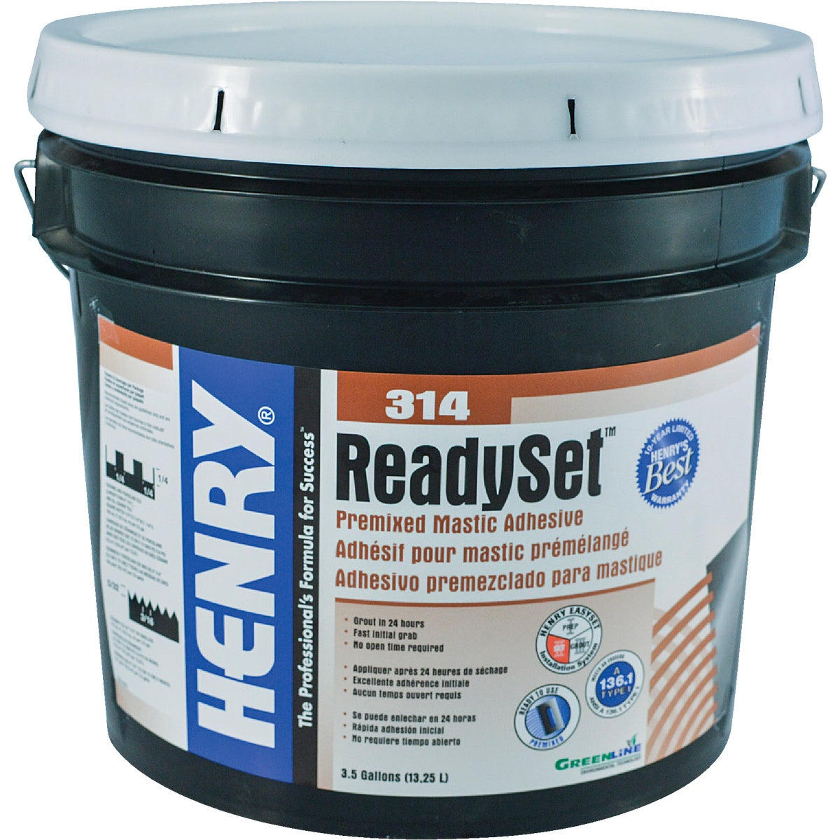 3.5G H314 CERMC ADHESIVE - 12257 by Henry W W Company