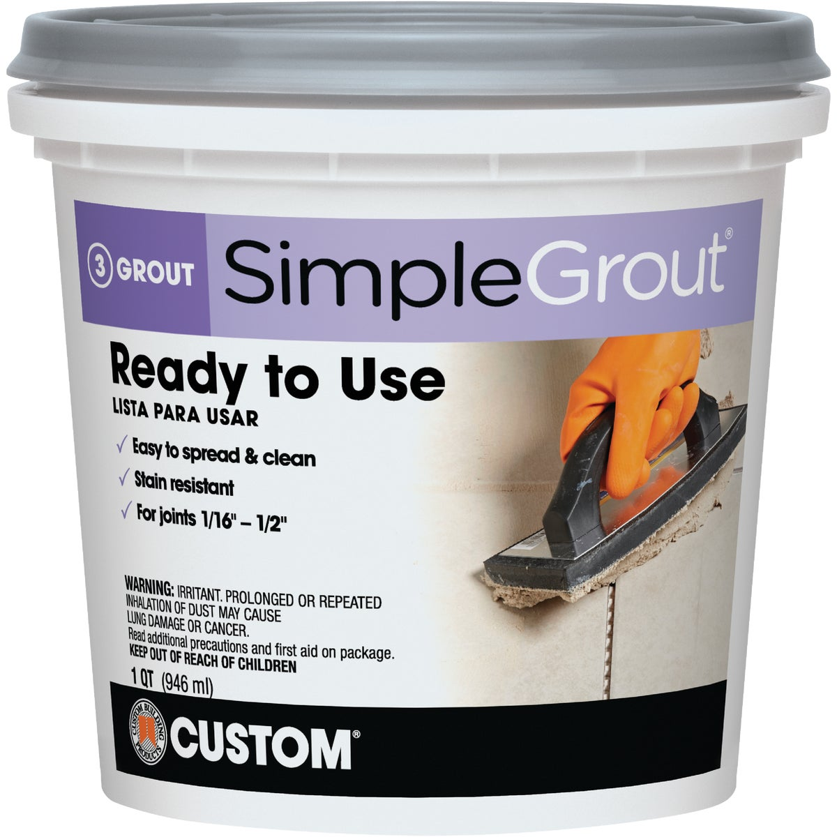 QT DL GRAY PREMIX GROUT - PMG165QT by Custom Building Prod