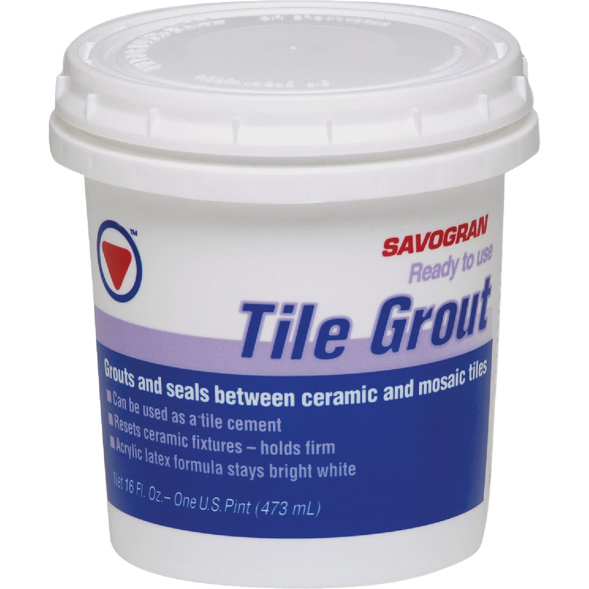 PINT PREMIXED TILE GROUT - 12861 by Savogran Company