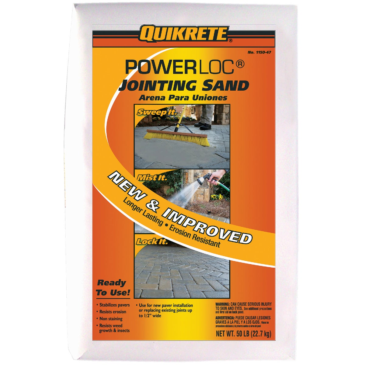 50# POWERLOC JOINT SAND - 115047 by Quikrete Co