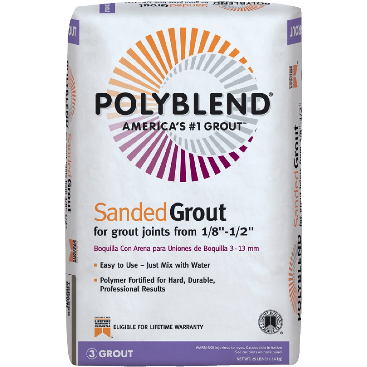 25LB HAYSTACK SNDD GROUT - PBG38025 by Custom Building Prod