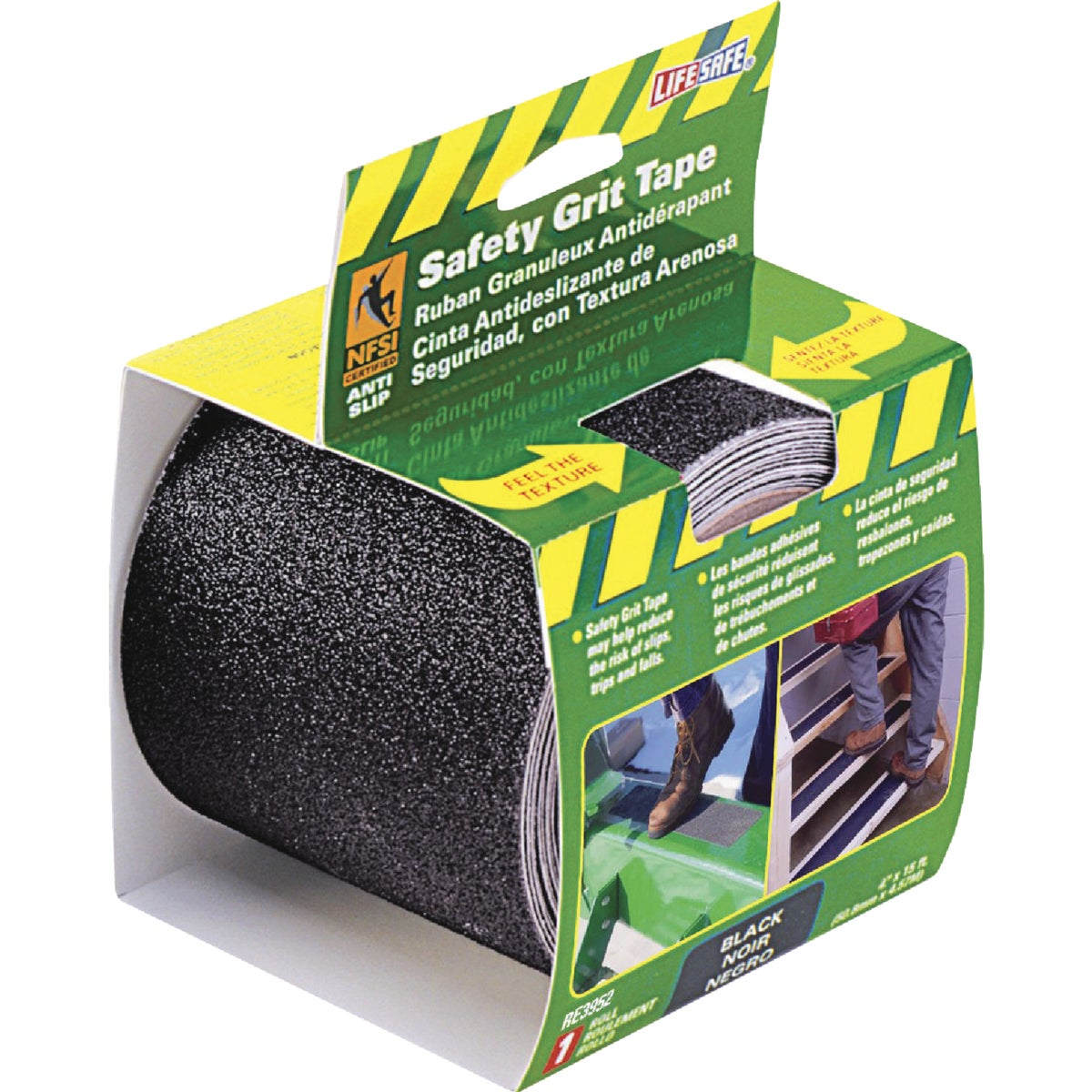"4""X15' BLK SFT GRIT TAPE - RE3952 by Incom Mfg Group"