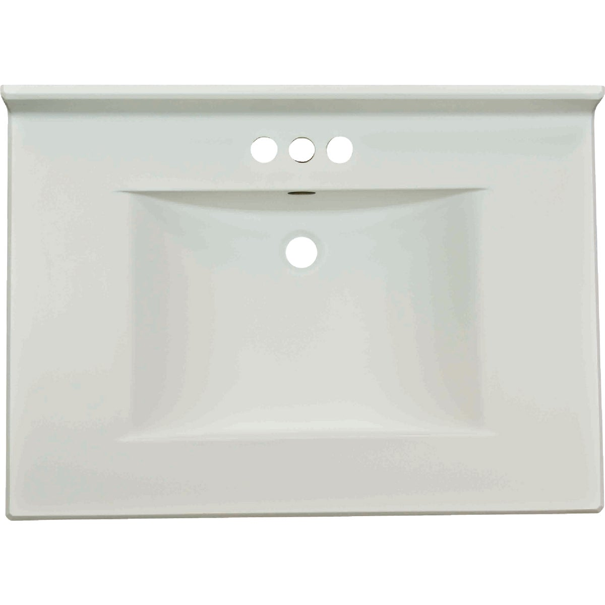 SOLID WHITE WAVE BOWL - VW3122SPWSS by Imperial Marble Corp