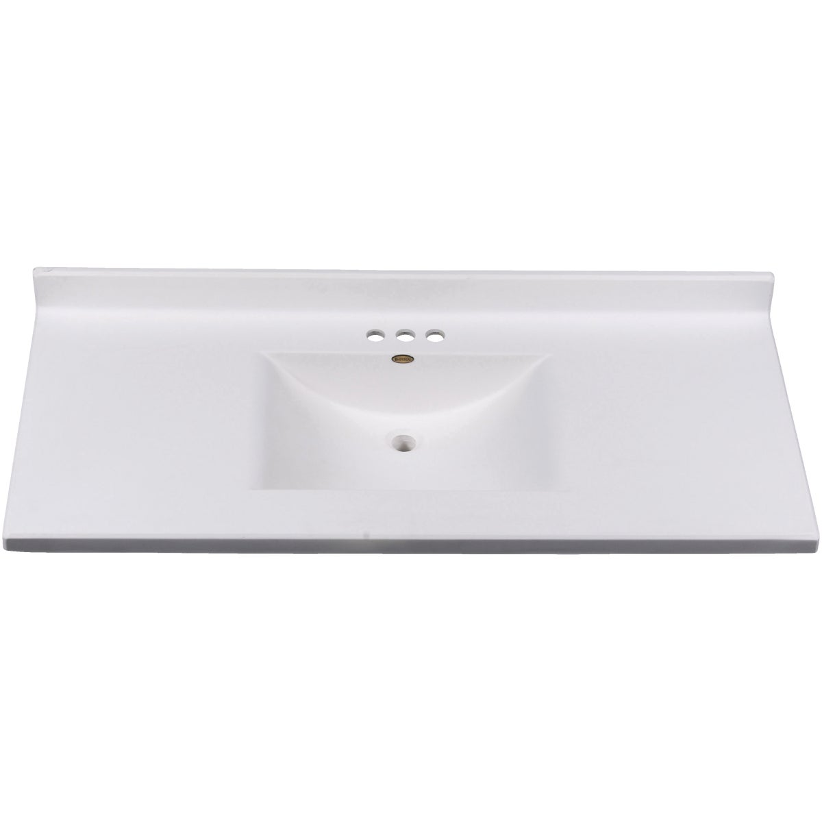 SOLID WHITE WAVE BOWL - VW4922SPWSS by Imperial Marble Corp