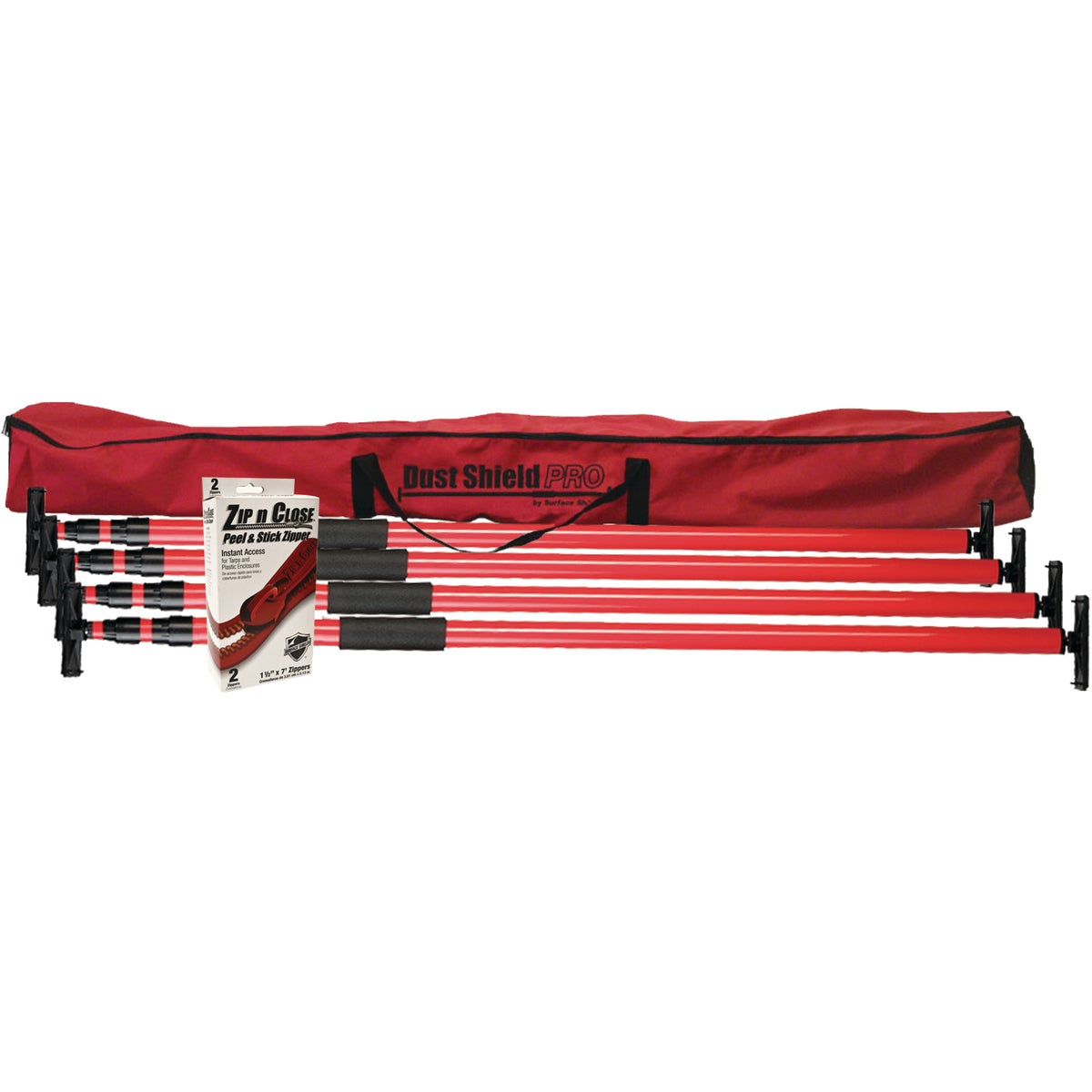 Surface Shields Dust Shield Pro Red Dust Containment Kit, DSPKIT