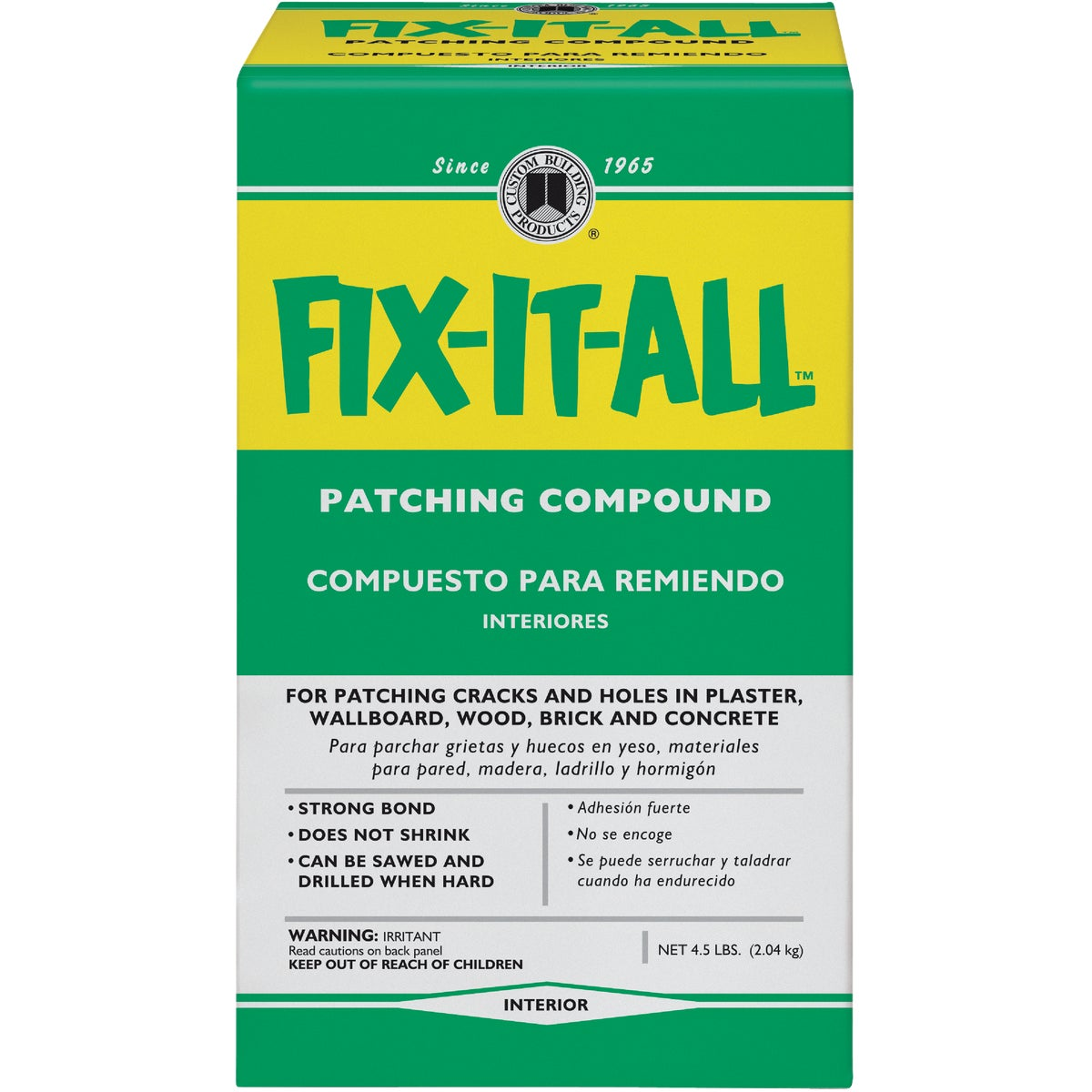 4.5LB BOX FIXALL PATCH - DPFXL4-4 by Custom Buildng Prods
