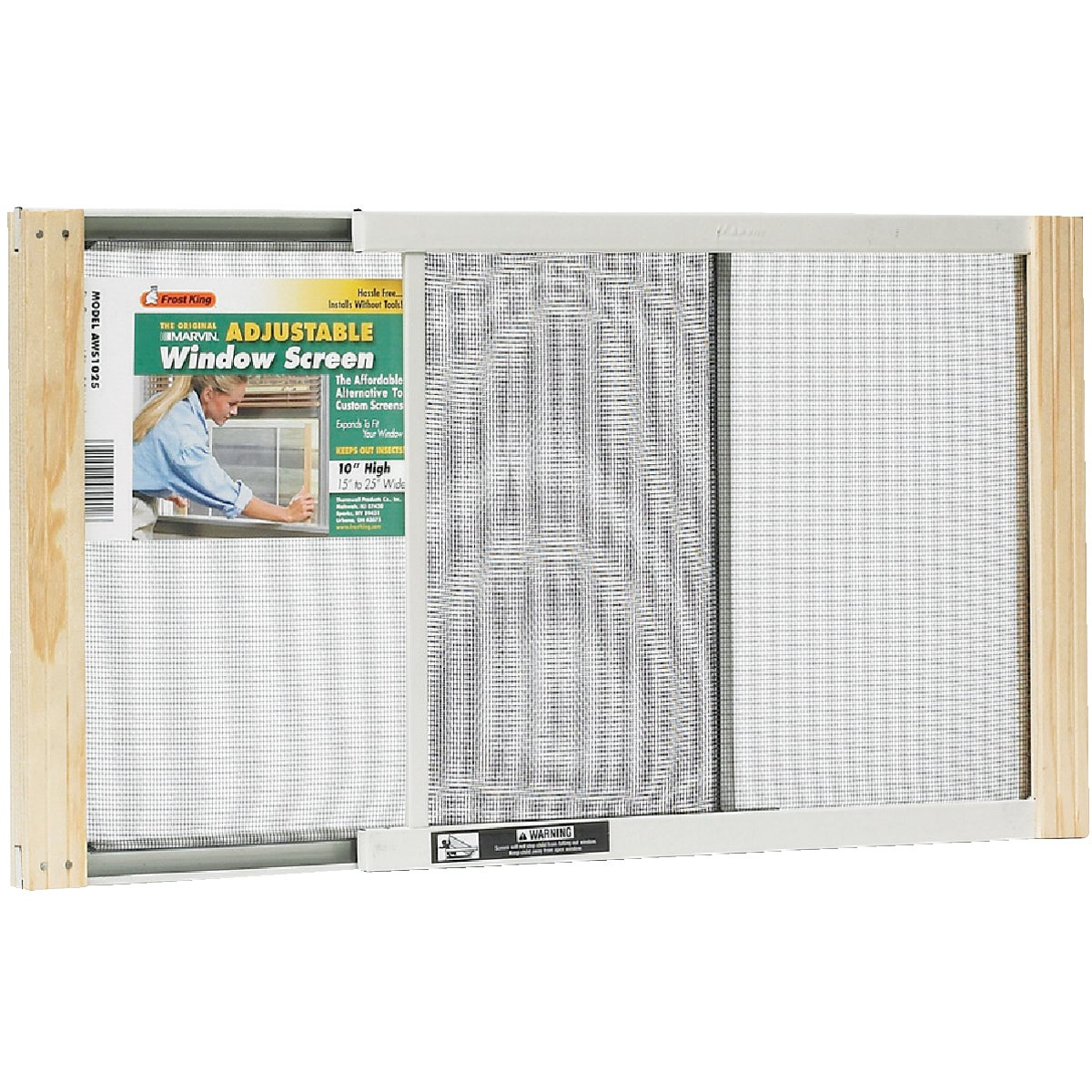 ADJUSTABLE WINDOW SCREEN - AWS1025 by Thermwell Prods Co