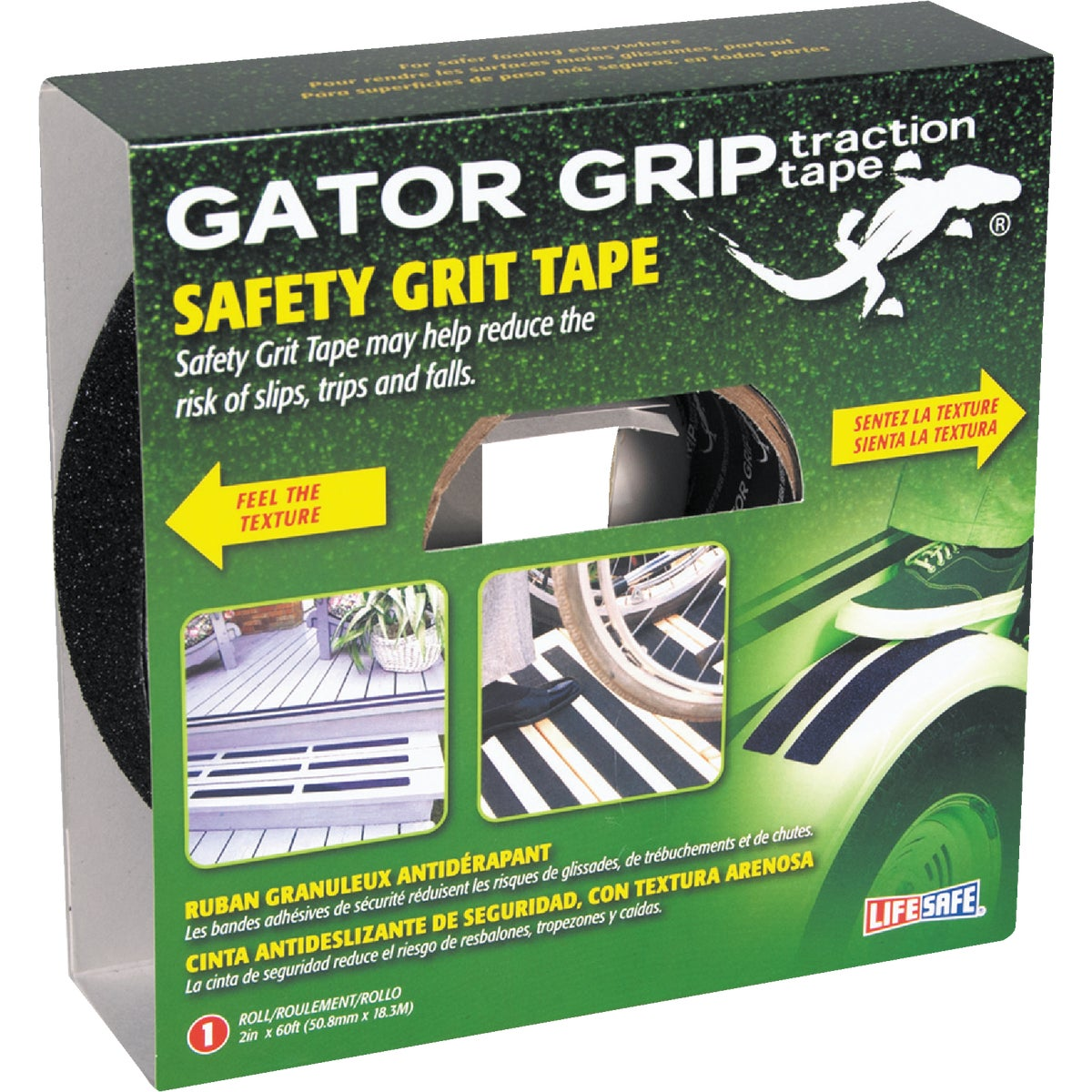 "2""X60' BLK SFT GRIT TAPE - RE142 by Incom Mfg Group"