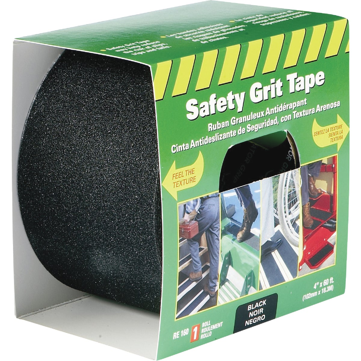 "4""X60' BLK SFT GRIT TAPE - RE160 by Incom Mfg Group"