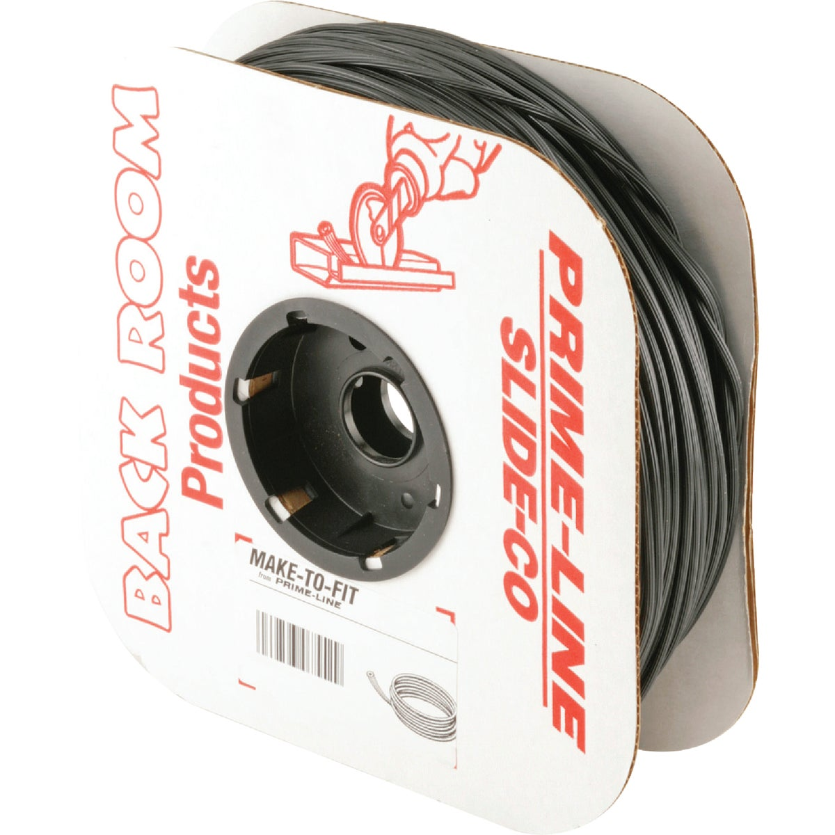 .165X250'BLK SCRN SPLINE - P7571 by Prime Line Products