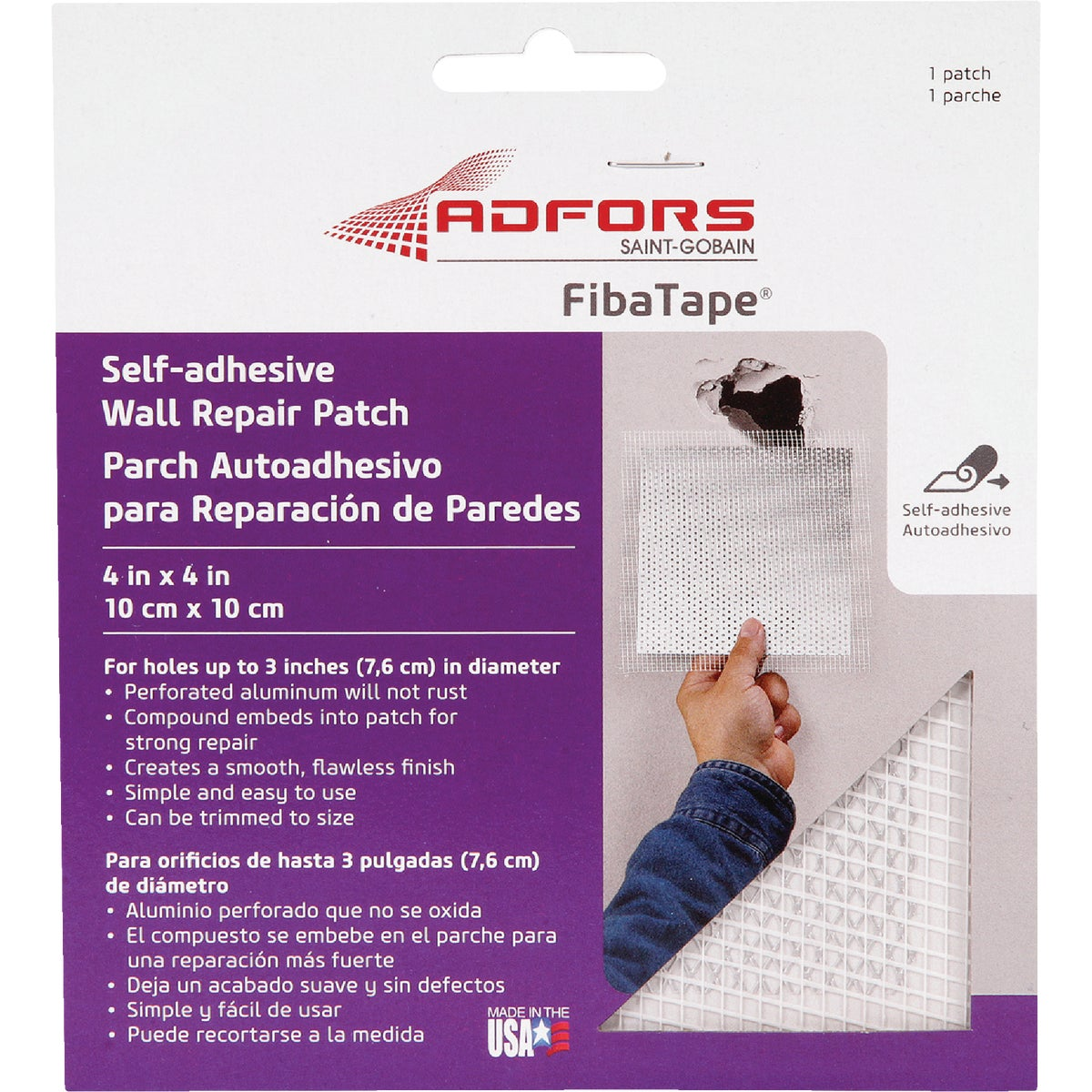"4"" WALL REPAIR PATCH - FDW6836-U by Saint Gobain"