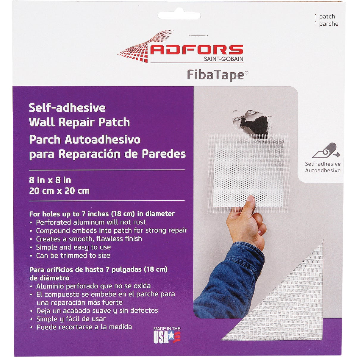"8"" WALL REPAIR PATCH - FDW6714-U by Saint Gobain"