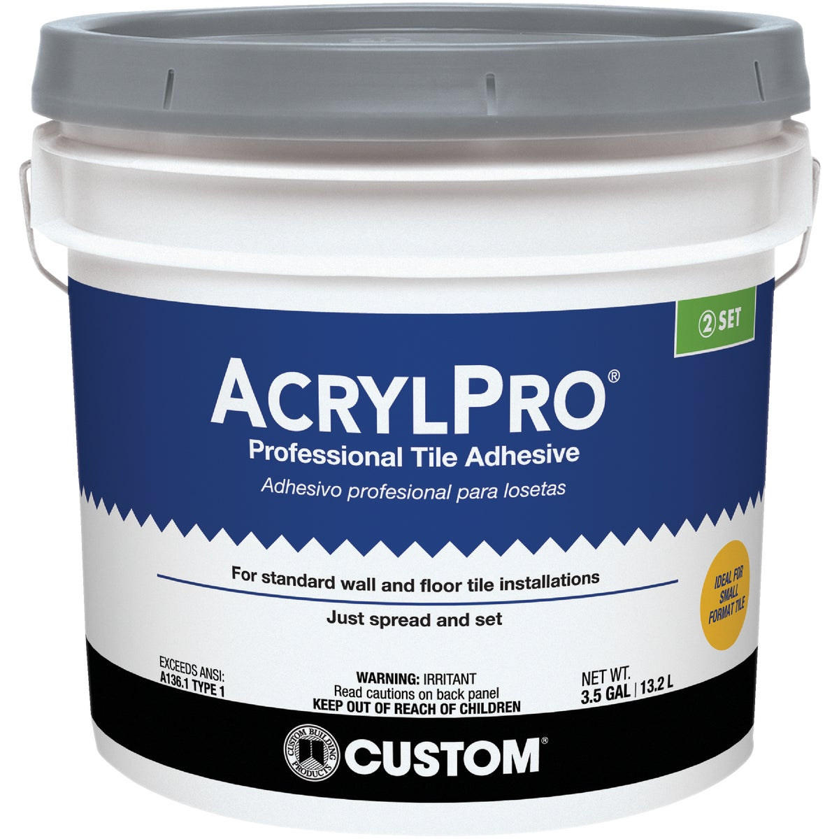 3.5GAL CRMIC TILE MASTIC - ARL40003 by Custom Building Prod