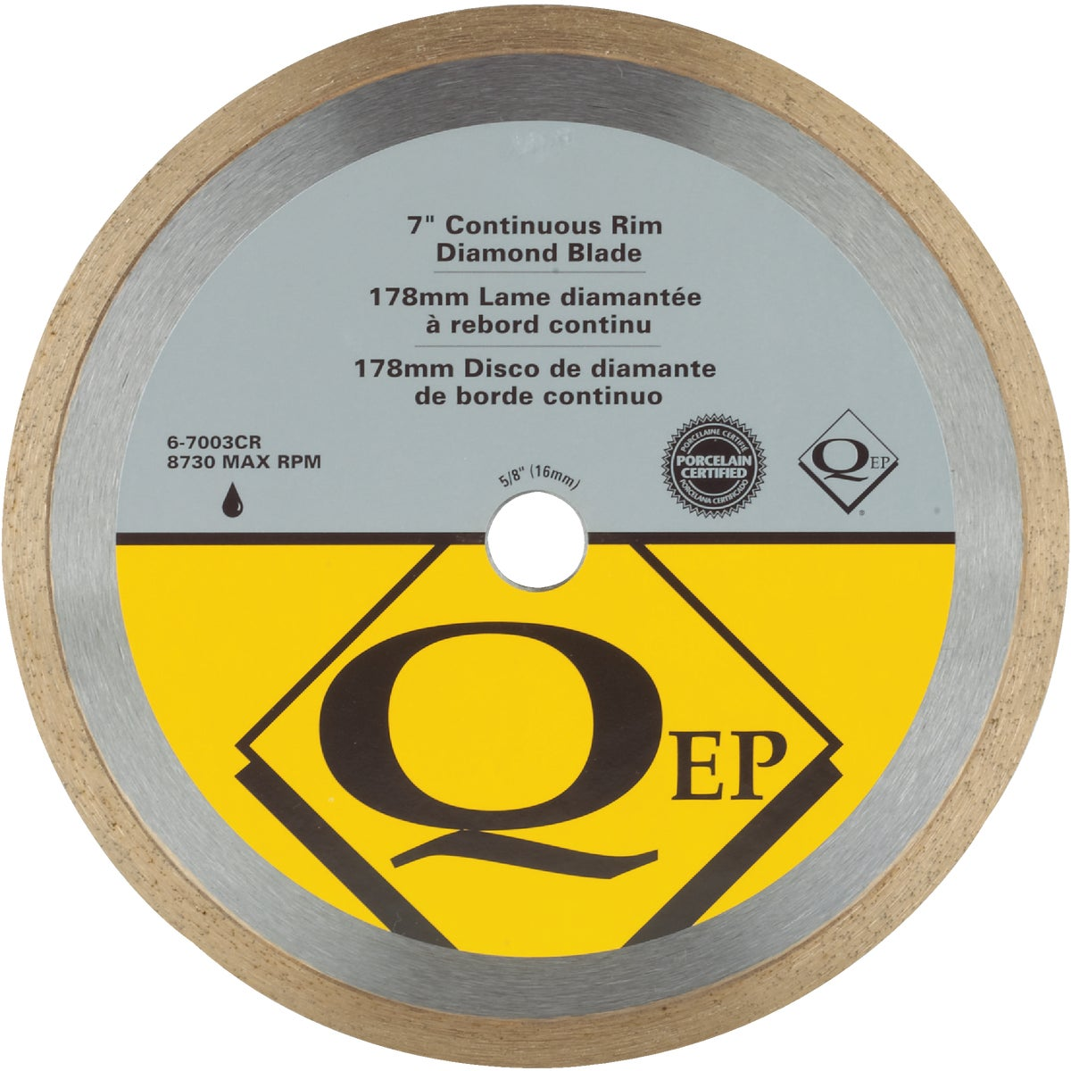 "7"" WET SAW BLADE - 6-7003Q by Qep Co Inc Roberts"