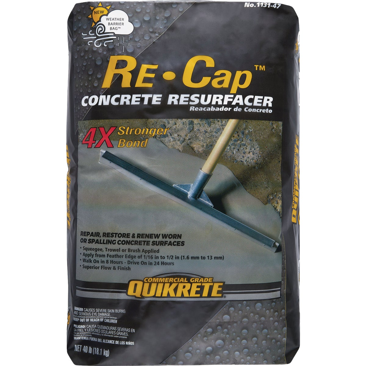 40LB CONCRETE RESURFACER - 113140 by Quikrete Co