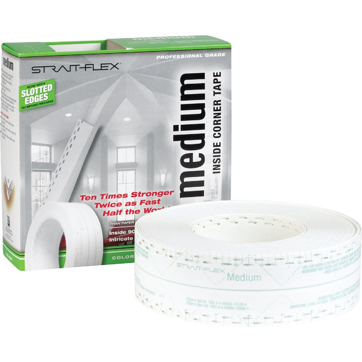 MEDIUM DRYWALL CRNR TAPE - SM-100 by Strait Flex Intl Inc