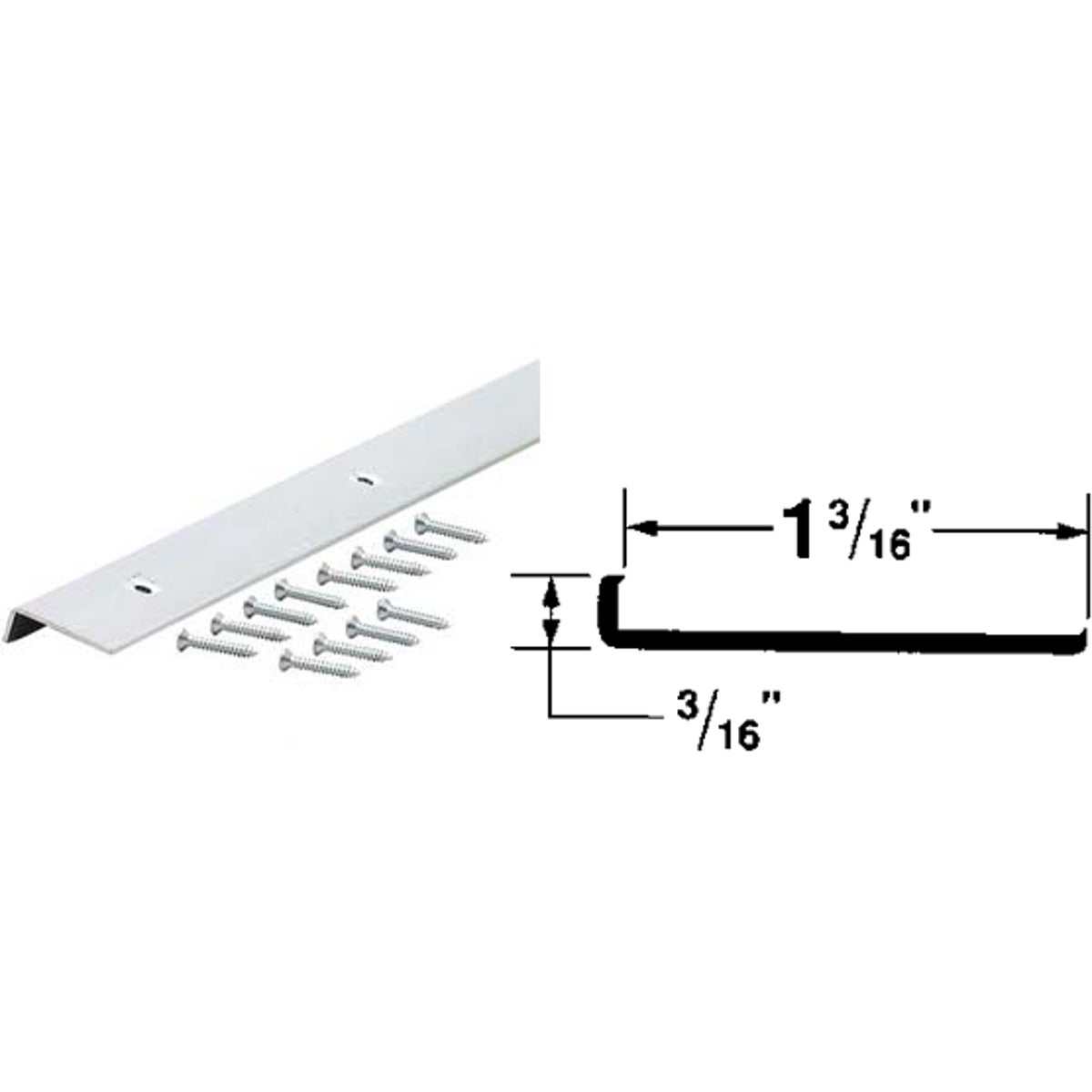 "1-3/16""X8' ALUM EDGING - 67363 by M D Building Prod"