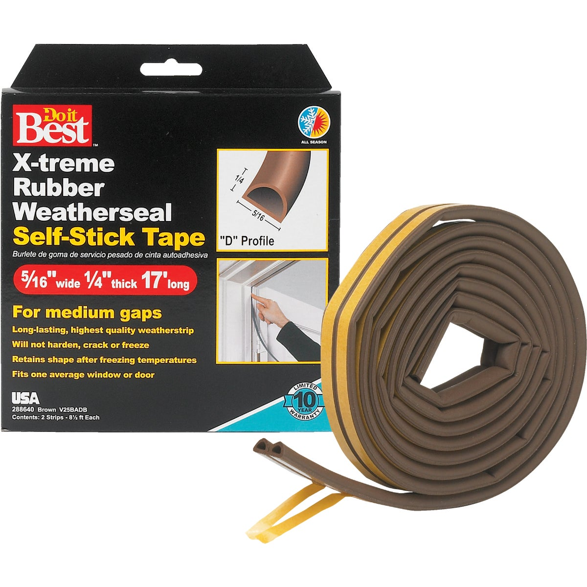 "5/16X1/4""X17' BRN TAPE - V25BADB by Thermwell Prods Co"