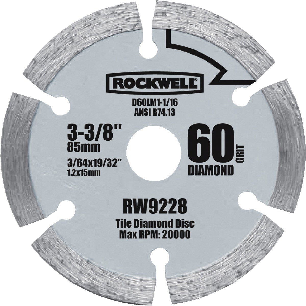 "3-3/8"" DIAMOND BLADE - RW9228 by Positec Usa Inc"