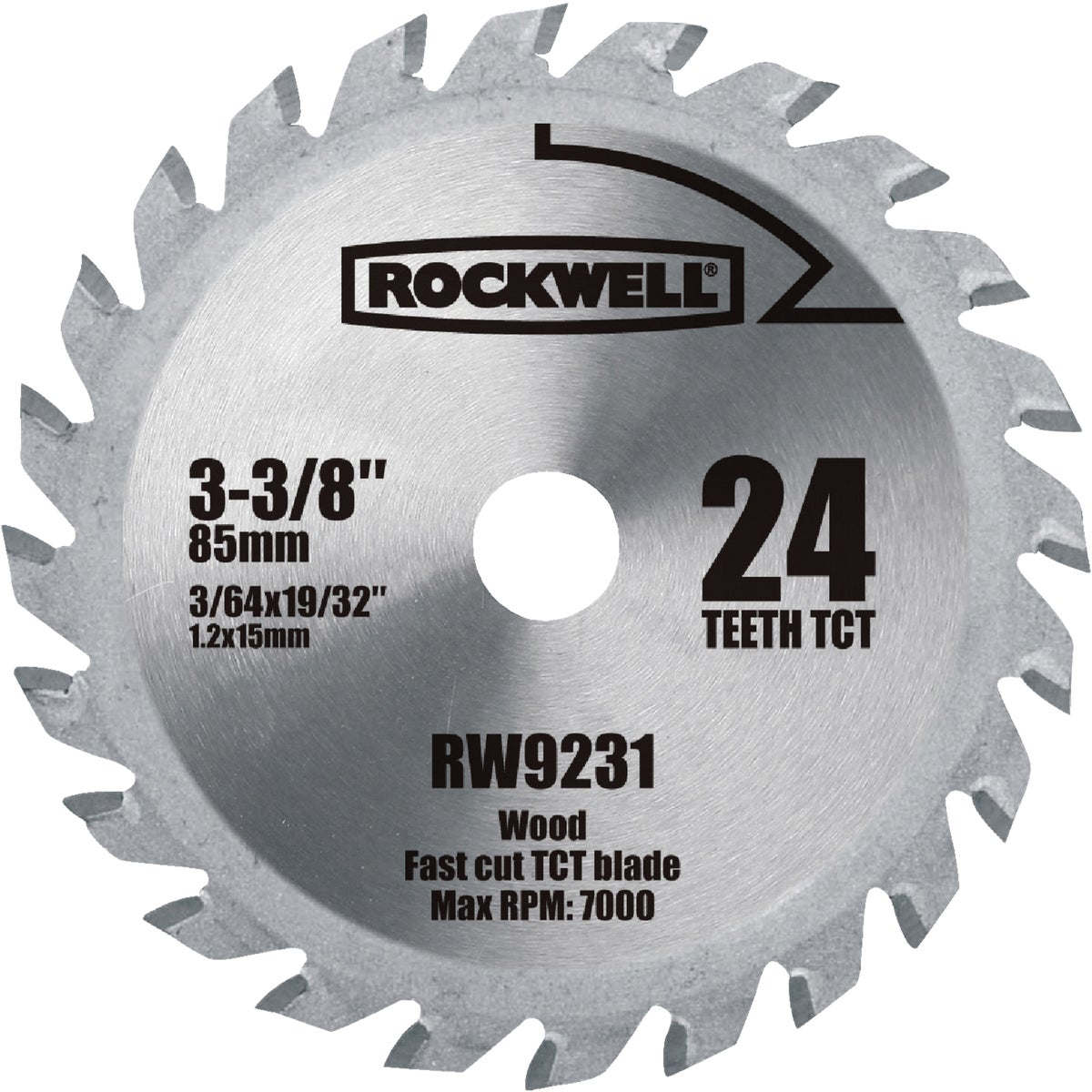 "3-3/8"" 24T CARBIDE BLADE - RW9231 by Positec Usa Inc"