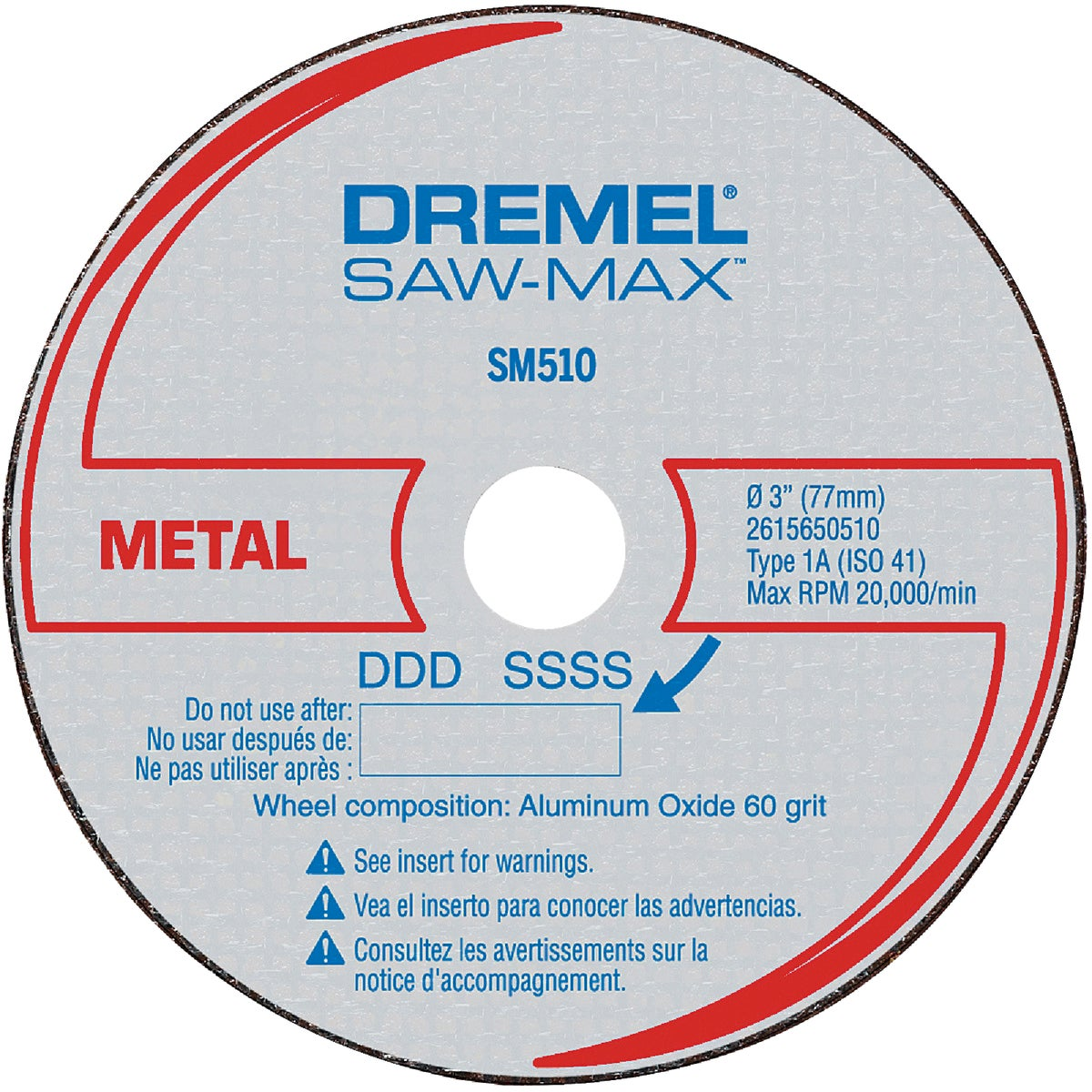3PK METAL CUTOFF WHEEL - SM510C by Dremel Mfg Co