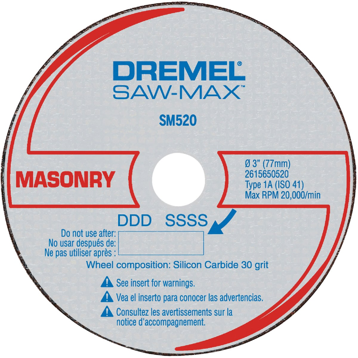 3PK MASONRY CUTOFF WHEEL - SM520C by Dremel Mfg Co