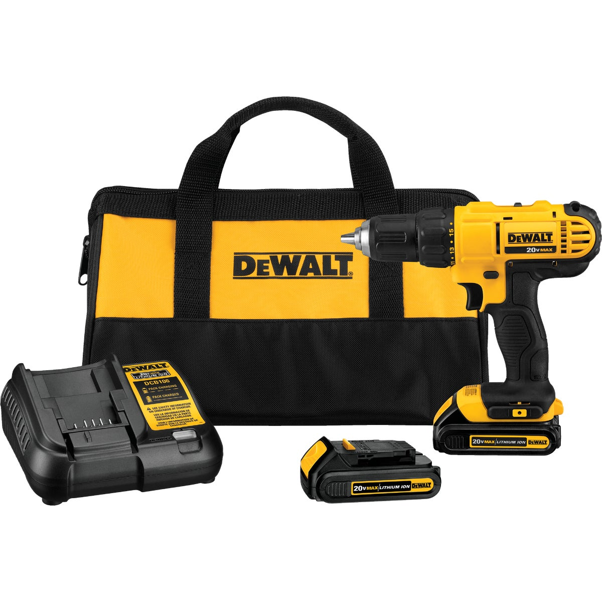 20X MAX DRILL/DRIVER KIT - DCD771C2 by DeWalt
