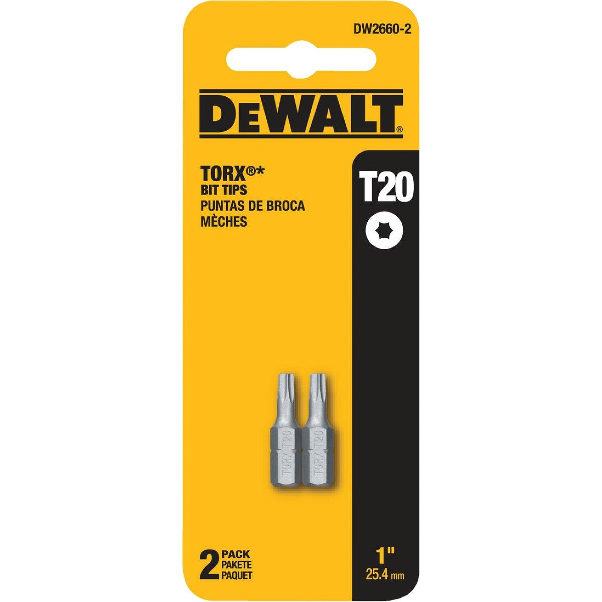 "2PK 2"" T20 TORX BIT - DW2660-2 by DeWalt"